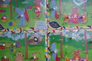 In The Night Garden Wooden 5 Piece Shape Puzzle Age 12+ Months 3 Styles