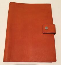 SHINOLA DETROIT IPAD AIR COVER  W/ TAB LEATHER ORANGE JOURNAL BOOK  COLLEGE NEW