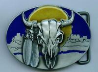 Gürtelschnalle Büffel Buckle Buffalo Western Longhorn Indianer