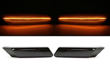 (2) Smoked Front LED Side Marker Light for Porsche 911 997 05-13 Cayman 06-12