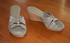 Womens Taupe Italian Shoemakers Wedges - Size 7.5