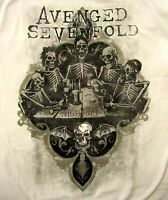 AVENGED SEVENFOLD cd lgo BOTTOMS UP Official SHIRT MED new