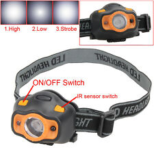 IR Sensor Headlight LED Bright Headlamp Frontal Lantern Head Torch Working Light