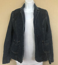 Kohls Holly Robinson Peete Maternity Denim Jean Jacket Blazer Medium