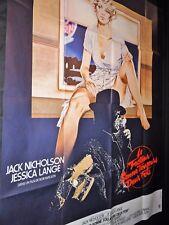 LE FACTEUR SONNE TOUJOURS DEUX FOIS j nicholson jessica lange affiche cinema