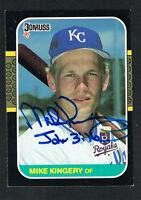 Mike Kingery #424 signed autograph auto 1987 Donruss Baseball Trading Card