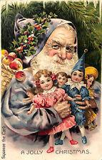 "Rare ""A Jolly Christmas"" Squeaker Santa Claus Dolls Still Squeaks!  Postcard"