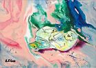 Cat vs Tail #1, Original Acrylic Painting, Artist Signed, 2000-Now