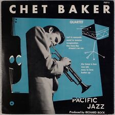 "CHET BAKER QUARTET: US '53 Pacific Jazz PJLP-3 10"" Jazz LP NM- Superb!"