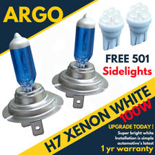 H7 100w Super White Xenon 499 Headlight Bulbs Hid 12v 4 Led W5w 501 Side lights