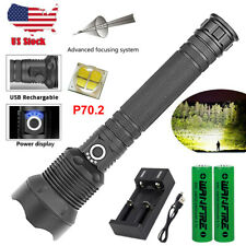 Super Bright 120000Lumens XHP70.2 LED Flashlight Rechargeable Hiking Zoom Torch