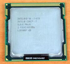 Intel Core i7 870 2.93 GHz Quad-Core 8M SLBJG Processor Socket 1156 H1 CPU