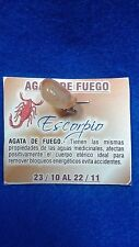 Zodiac Gemstone ESCORPIO ESCORPION Pendant Sign Piedra del Signo Zodiacal ifa