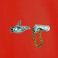 Run The Jewels Embroidered Red Hip Hop Tee T-shirt by Actual Fact