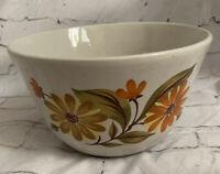 "Vintage Capri Bake Serve N Store Stoneware Mixing Bowl Daisy Flowers Retro 7""x4"""