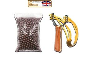 UK Powerful Slingshot Catapult Alloy Handle Sling Shot Outdoor Game Hunting New