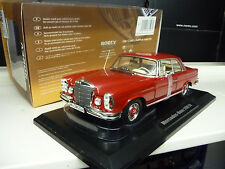 1:18 norev mercedes 280se Coupe w111 Red Limited Edition 1400 pieces nuevo New