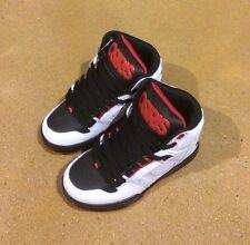 Osiris NYC 83 Kids Size 12 White Black Red BMX DC Skate Shoes Sneakers