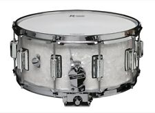 Rogers Dyna-sonic 14x6.5 Wood Shell Snare Drum White Marine Pearl w/Beavertail L