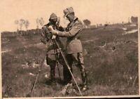 FOTO DEL 1939 - MILITARI REGIO ESERCITO ARTIGLIERIA - MISURAZIONI  - NOVARA -