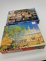 Two  1000 Piece Jigsaw Puzzles - Canada Games  & Western Publishing 1993 & 1994