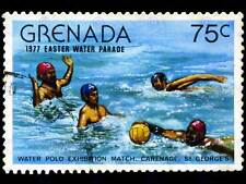 GRENADA VINTAGE POSTAGE STAMP WATER POLO ART PRINT POSTER PICTURE BMP1693B