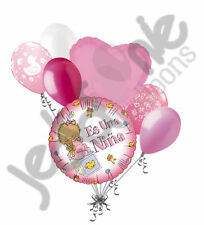 7 pc Es Una Nina Balloon Bouquet Baby Shower Its a Girl Welcome Home Party Decor