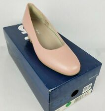 SAS Pink Leather Sofia Wedge Heel Comfort Shoe Womens Size 6 Made In Italy NIB
