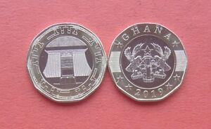 Ghana 2019 Jubilee House in Accra 2 Cedi Bi-metallic Coin UNC