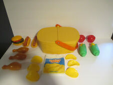 Vintage 1988 Fisher Price Fun With Food  Pack- A -Picnic #2109