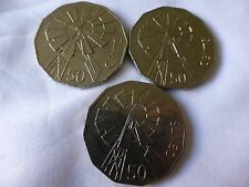 3 x 2002 50 cent australian coins circ Year of the Outback