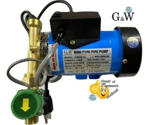 "120W 110V Automatic Water Booster Pump 3/4"" to 1/2"" adapters with Flow Switch"