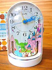 Bradley Mickey Mouse Animated Musical Alarm Clock Disney Wind-up NIB