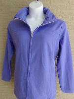 New Just My Size Cotton Blend French Terry Zip Front Mock Neck Jacket 1X Iris