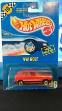 Hot Wheels VW Golf in Red #106 Blue Carded