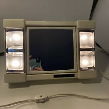 Jerdon Mirror Go Lightly w/ Magnify Lighted Vintage two sides Ivory Working Rare