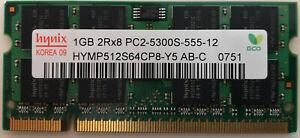 Hynix HYMP512S64CP8-Y5 AB-C 1GB DDR2 PC2-5300S-555-12 Memory