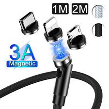 Magnetic Fast Charge IOS Type C Micro USB Lightning Data Charger Cable 3A 1m 2m