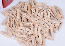 50Pcs Very Small 25mm Mini Natural Wooden Clips For Photo Clips Clothespin Craft