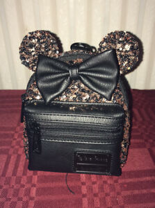 DISNEY PARKS BELLE of the BALL BRONZE LOUNGEFLY MINI WRISTLET BACKPACK NEW