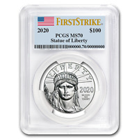2020 1 oz Platinum American Eagle MS-70 PCGS (FirstStrike®) - SKU#199408