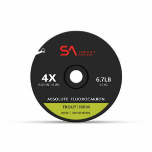 SCIENTIFIC ANGLERS ABSOLUTE FLUOROCARBON TROUT TIPPET 100M 5X 4.6 LB GUIDE SPOOL