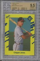 CHIPPER JONES ROOKIE 1990 Classic Yellow #T92 Graded BGS GEM MINT 4 x 9.5 SUBS