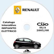 Renault CLIO III ph.1,manuale impianto elettrico,wiring diagrams.ITA