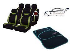 9 PCE Sports Carnaby Green/ Black CAR Seat Covers + Matching Mat Set All Suzuki