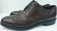 Cole Haan Men 11 M Burgundy Wingtip Oxford Dress Shoe V