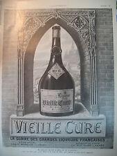 PUBLICITE DE PRESSE VIEILLE CURE LIQUEUR ABBAYE DE CENON FRENCH AD 1924