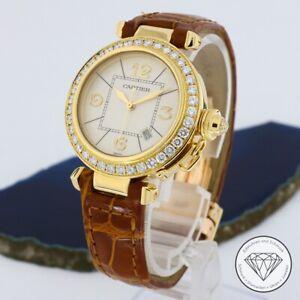 Cartier Pasha Gold 32mm Brillanten Automatik Damen Uhr xxyy
