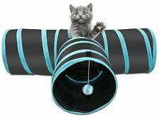 More details for pop up cat tunnel 3 way pet toy collapsible play tube with dangling ball