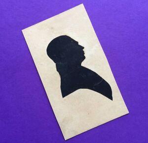 RARE Silhouette PORTRAIT MASTER William James HUBARD c 1830 SIGNED Stamp Man ART